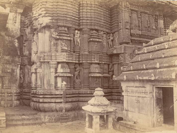 Close view of northern façade of the antechamber of the Rajalinga Temple, Bhubaneshwar